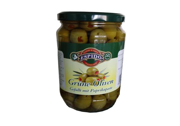 Grüne Oliven Paprika shishe